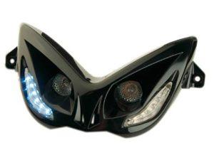 MASQUE ''R8'' DOUBLE OPTIQUES + LEDS POUR NITRO AV 13
