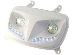 MASQUE ''R8'' DOUBLE OPTIQUES + LEDS POUR SPIRIT AP 04 BLANC