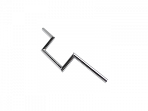 GUIDON CYCLO Z BARRE LISSE ACIER CHROME HAUTEUR 100mm POUR PEUGEOT 103/MBK 51