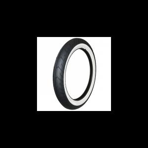 PNEU CYCLO 16'' 2.50-16 (2 1/2-16) MITAS FLANCS BLANCS MC2 TL/TT 42J REINF