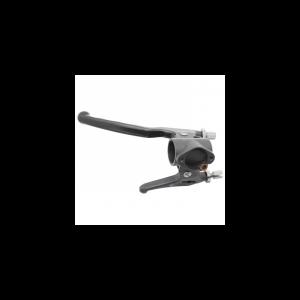 POIGNEE DE FREIN CYCLO ADAPTABLE PEUGEOT 103 SPX-RCX GAUCHE ALU NOIR AVEC STARTER GAUCHE -DOMINO ORIGINE