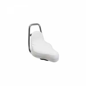 SELLE CYCLO ADAPTABLE PEUGEOT 103 TYPE CHOPPER BLANCHE